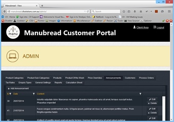Manubread - Customer Account Portal
